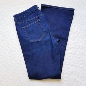 Gap jeans long lean 28 dark wash flattering flare